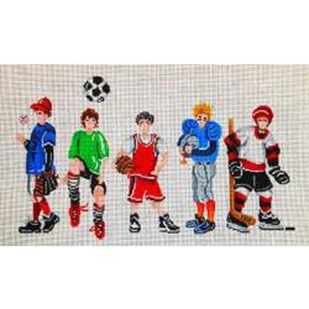 Boys and Sports Canvas-Needlepoint Canvas-Patti Mann-18 mesh-KC Needlepoint