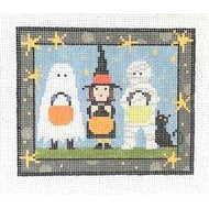 Trick or Treaters Canvas - needlepoint