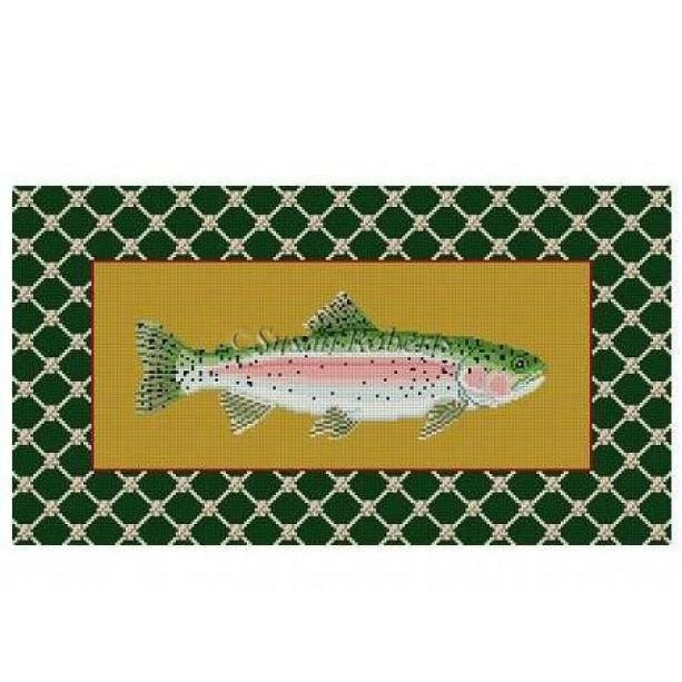 Rainbow Trout Canvas - needlepoint
