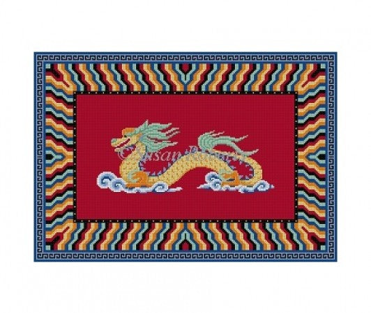 Dragon Needlepoint Canvas-Needlepoint Canvas-Susan Roberts-KC Needlepoint