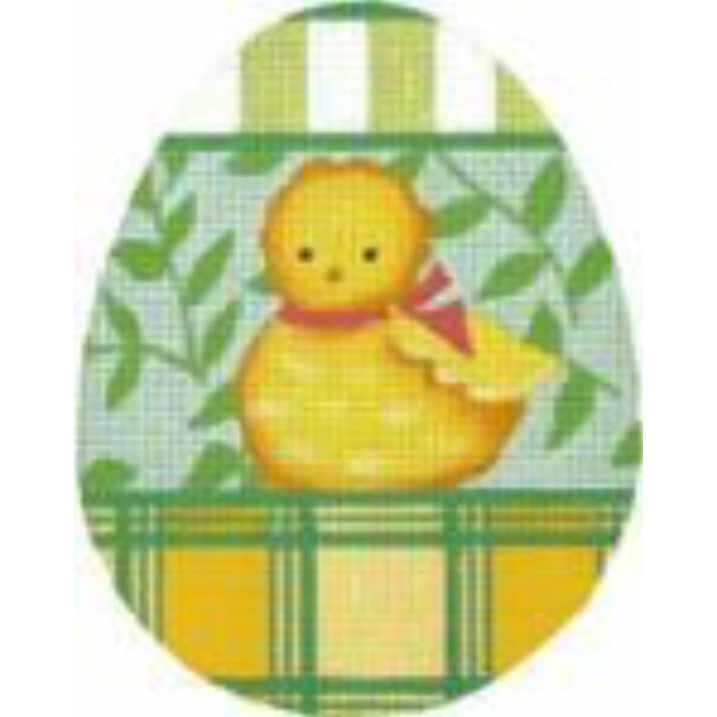 Chick Egg Needlepoint Canvas - needlepoint