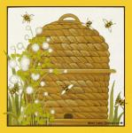Bee Skep Needlepoint Canvas