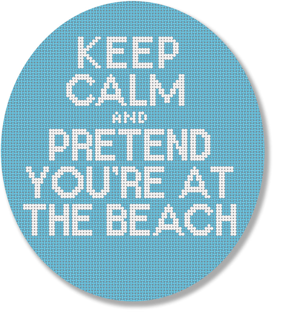 Keep Calm and Pretend... Canvas - KC Needlepoint