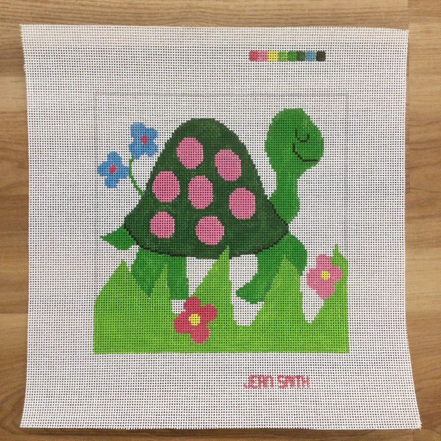 Turtle Square Canvas - KC Needlepoint