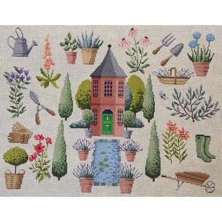 Chelsea Eccentric Garden Canvas-Needlepoint Canvas-Kirk & Bradley-KC Needlepoint