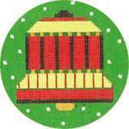 Bell Ornament Needlepoint Canvas - needlepoint