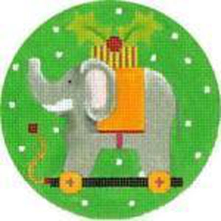 Elephant Ornament Needlepoint Canvas - needlepoint