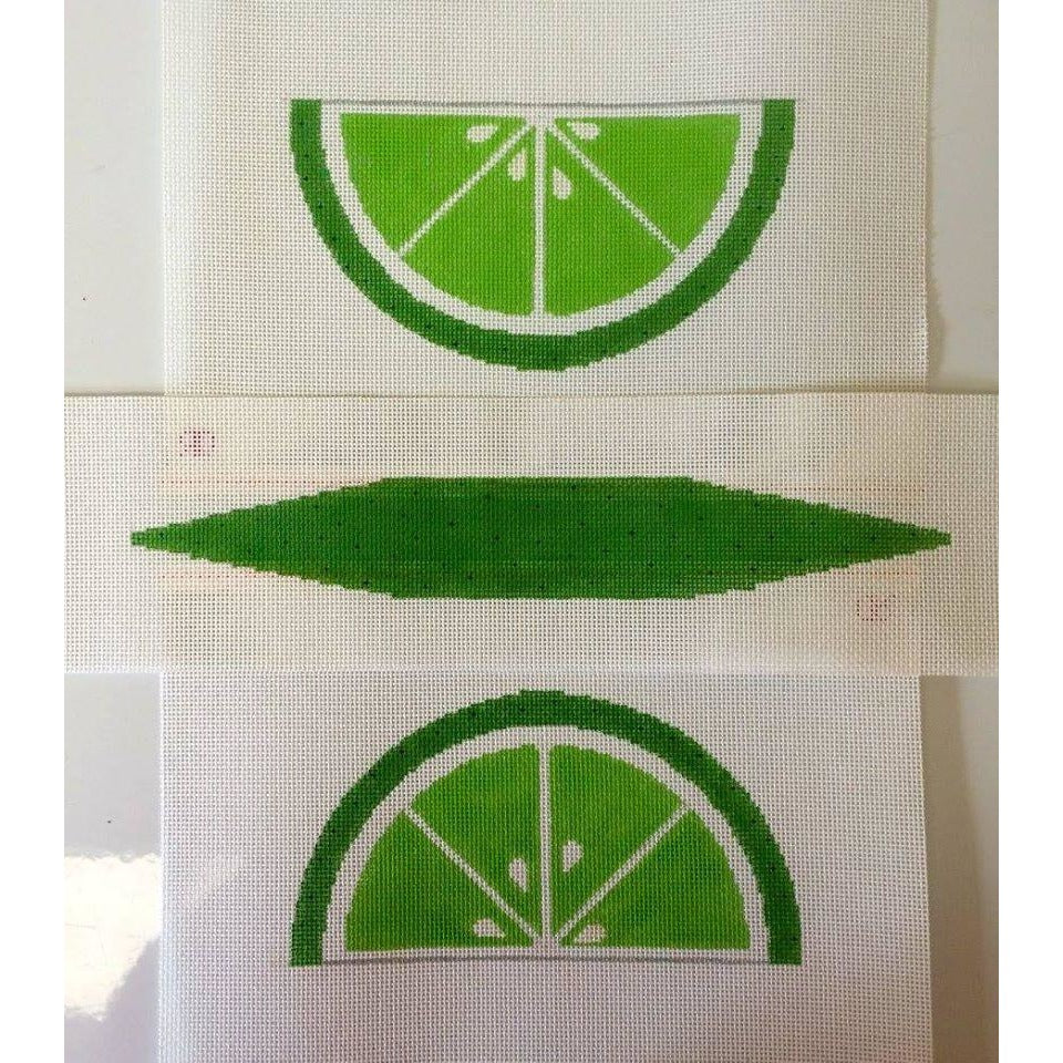 Lime Wedge Purse Canvas - needlepoint