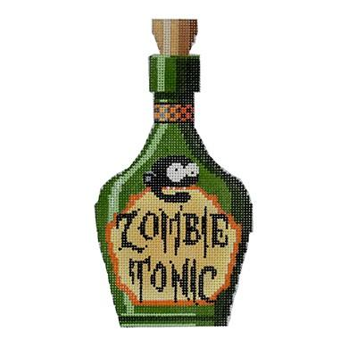 Zombie Tonic Halloween Bottle Canvas-Needlepoint Canvas-Kirk & Bradley-KC Needlepoint