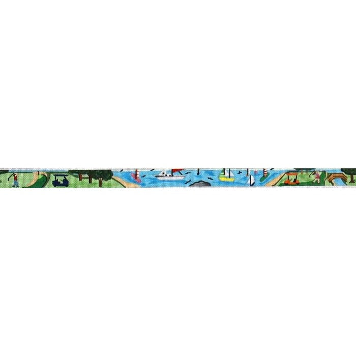 Golfing Resort Belt Canvas - KC Needlepoint