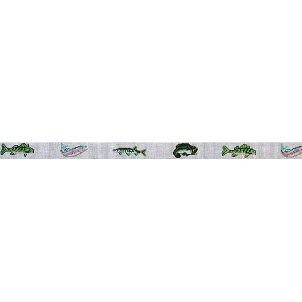 Fresh Water Fish Belt Canvas-Needlepoint Canvas-The Meredith Collection-KC Needlepoint