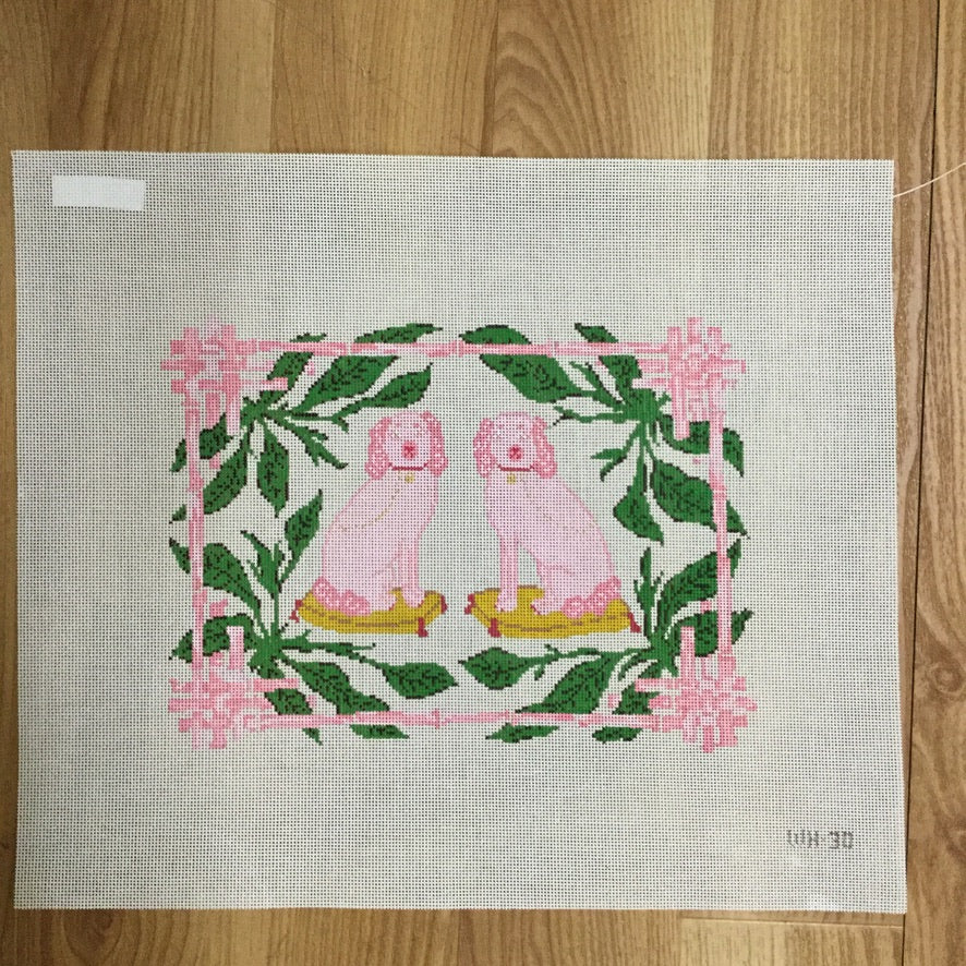 Frenchy and Cha Cha Canvas - needlepoint