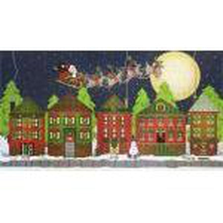 Christmas Houses Needlepoint Canvas-Needlepoint Canvas-Melissa Shirley-KC Needlepoint