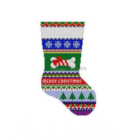 Bold Stripe Dog Stocking Canvas