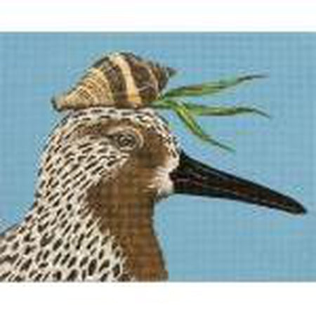 Red Knot & Shell Needlepoint Canvas
