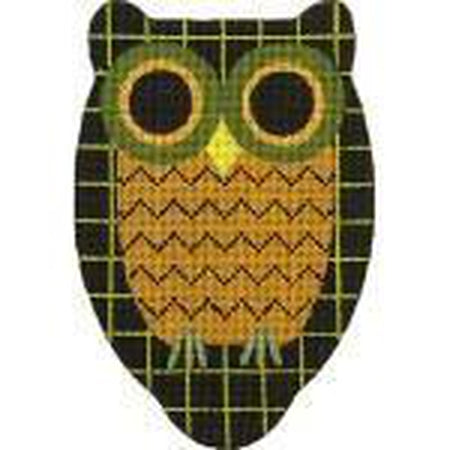 Windowpane Owl Needlepoint Canvas