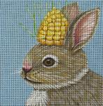Corn Bunny Needlepoint Canvas