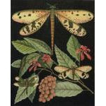 Dragonflies and Berries Needlepoint Canvas - KC Needlepoint
