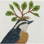 Red Nuthatch Needlepoint Canvas - needlepoint