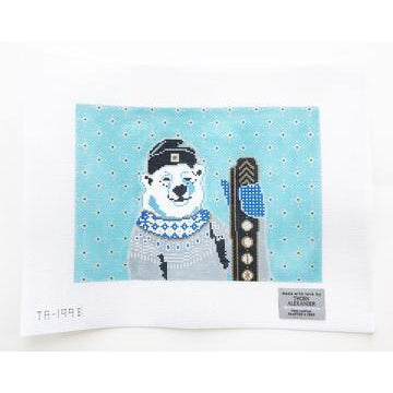 Maggie the Polar Bear Canvas-Needlepoint Canvas-Thorn Alexander-KC Needlepoint