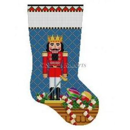 Nutcracker Prince Stocking-Needlepoint Canvas-Susan Roberts-KC Needlepoint
