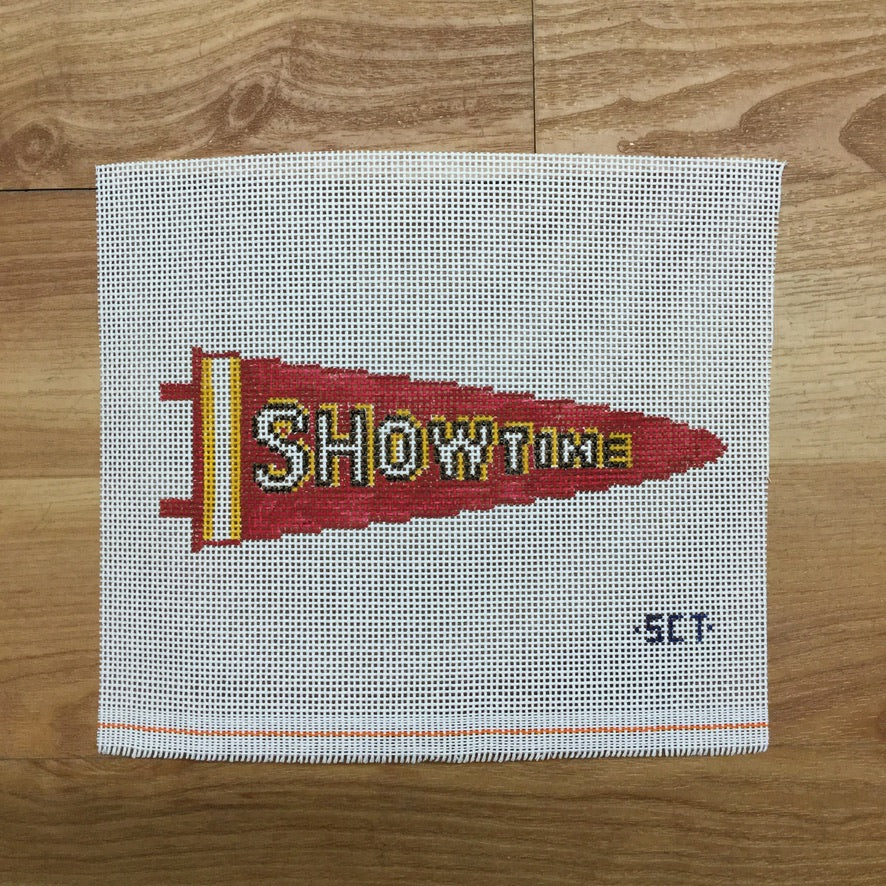 Showtime Pennant Canvas - needlepoint