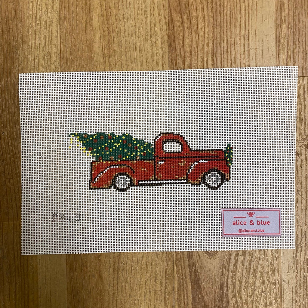 Oh, Christmas Truck Canvas-Needlepoint Canvas-KC Needlepoint