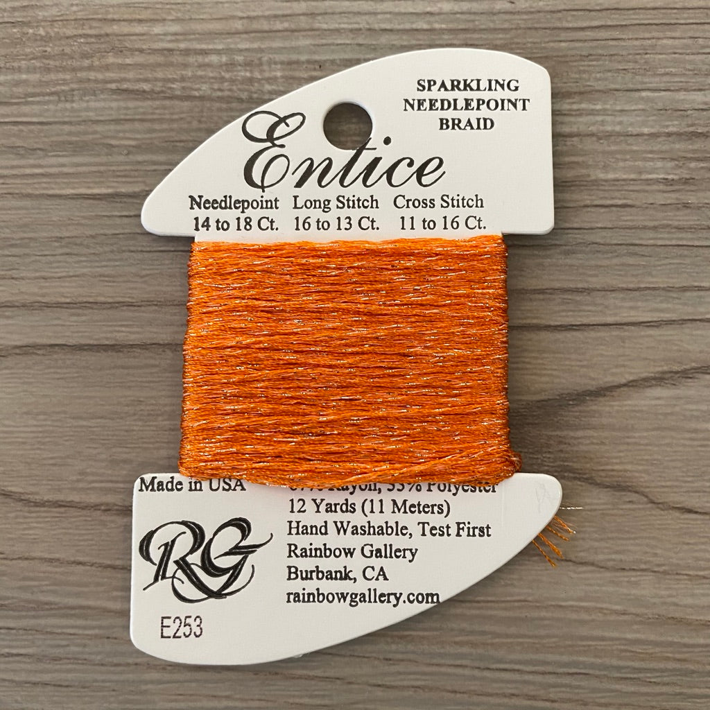 Entice E253 Sun Orange - KC Needlepoint