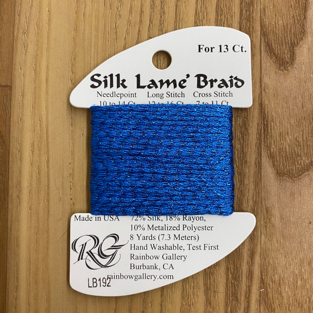 Silk Lamé Braid LB192 Bluebird-Silk Lamé Braid-KC Needlepoint