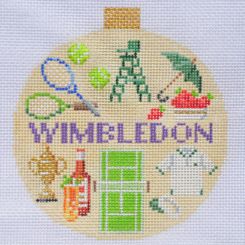 Wimbledon Travel Round Needlepoint Canvas - needlepoint