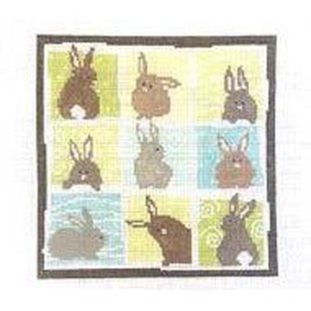 Nine Bunnies Canvas - KC Needlepoint