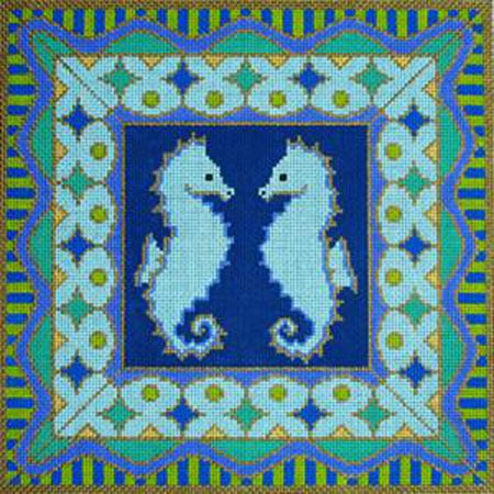 Seahorse Needlepoint Canvas-Needlepoint Canvas-Amanda Lawford Designs-KC Needlepoint
