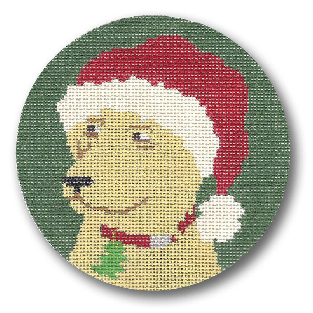 Yellow Lab with Hat Canvas - needlepoint