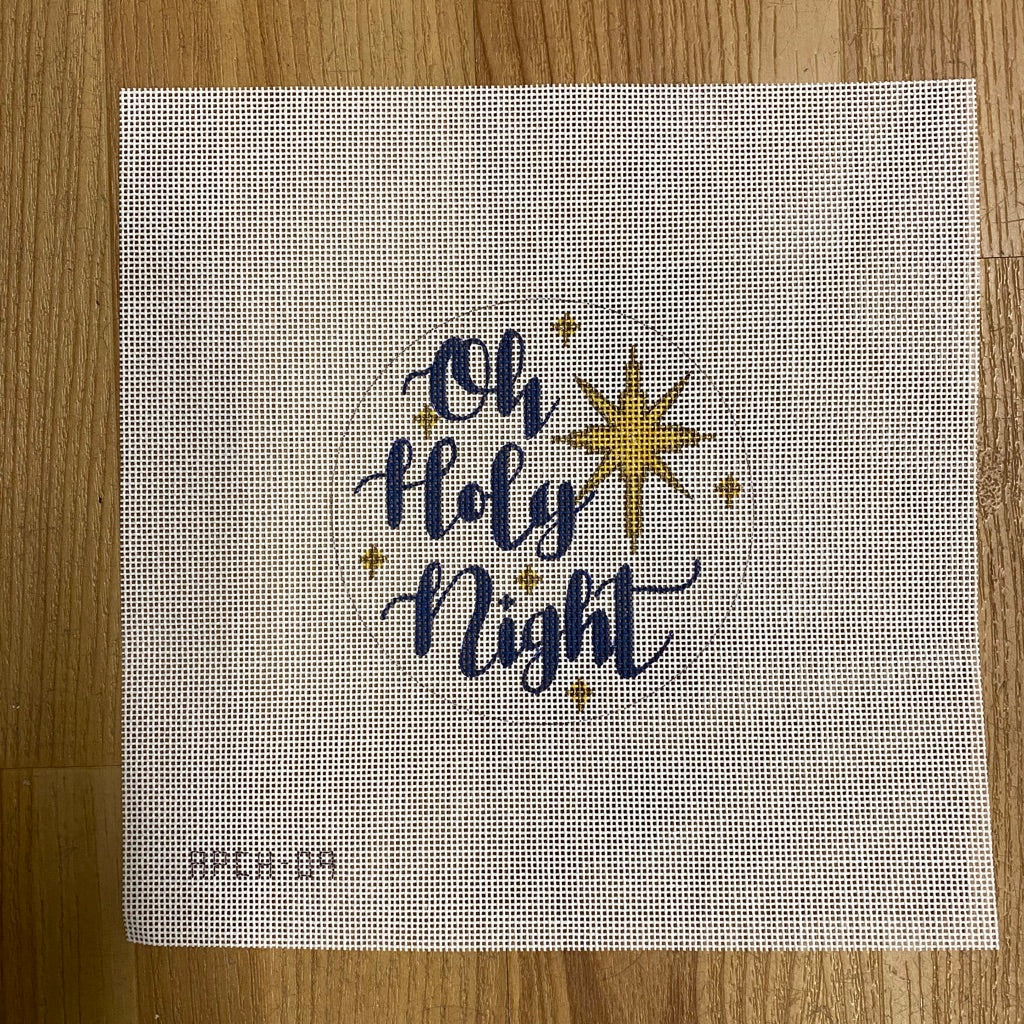 Oh Holy Night Round Canvas - needlepoint