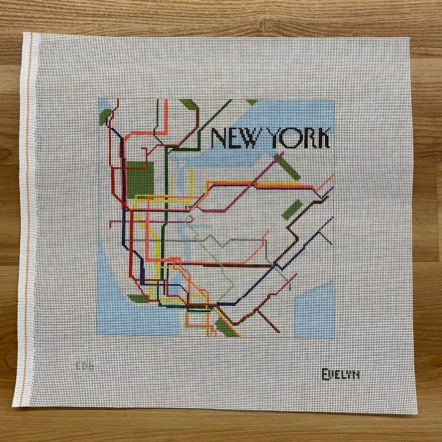 New York Subway Canvas - KC Needlepoint