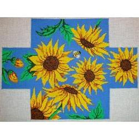 Sunflowers Brick Cover Canvas-Needlepoint Canvas-Patti Mann-KC Needlepoint