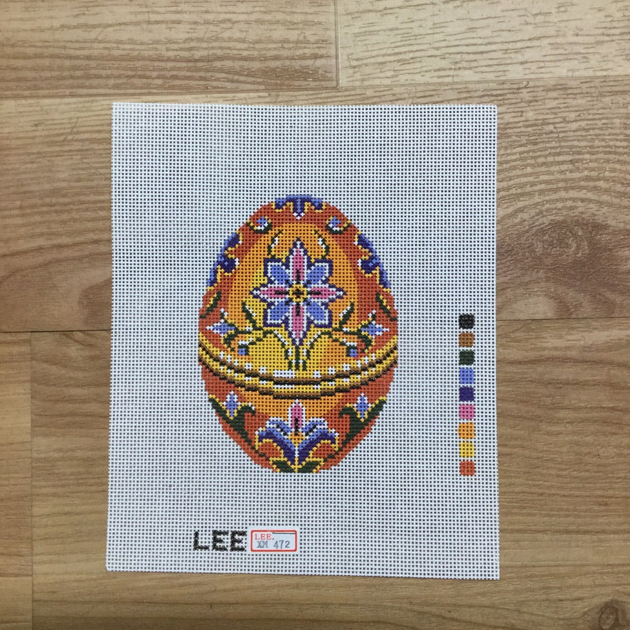 Orange Faberge Canvas-Needlepoint Canvas-Lee Needle Arts-KC Needlepoint