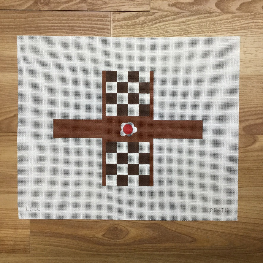 Chubby Checker Checkerboard Cake Canvas-Needlepoint Canvas-Danji Designs-KC Needlepoint