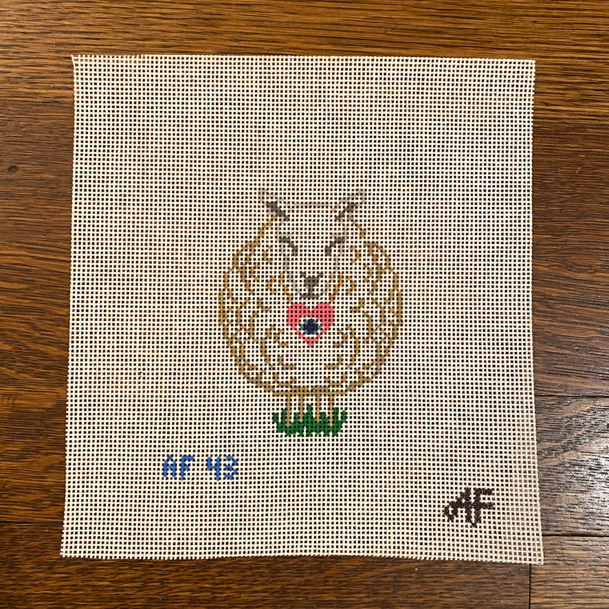 I Love Ewe Ornament Canvas