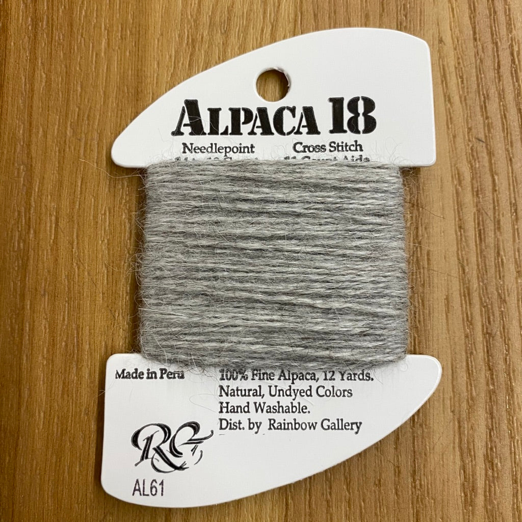 Alpaca 18 AL61 Gray - KC Needlepoint