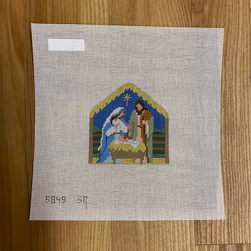 Nativity Stable Canvas-Needlepoint Canvas-KC Needlepoint