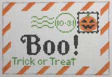 Boo Letter Canvas - needlepoint