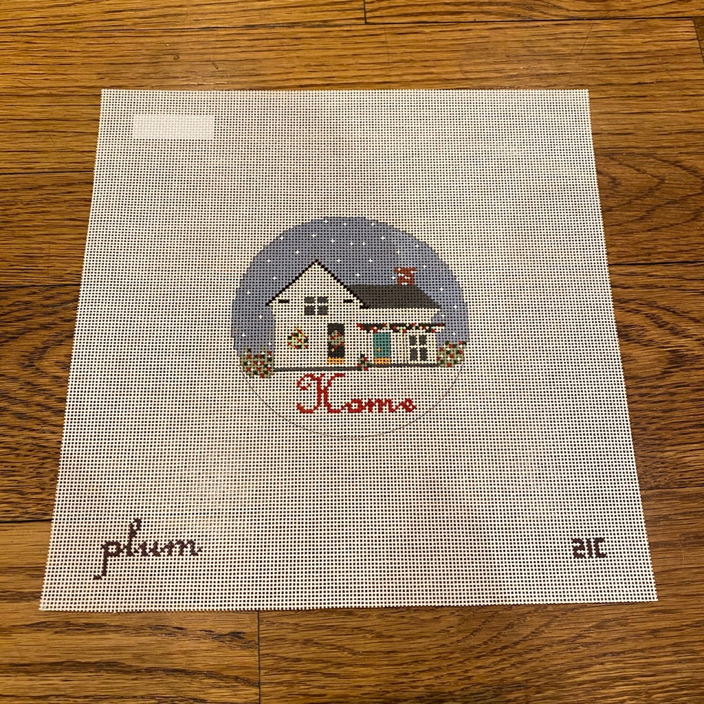 Home Round Canvas - needlepoint