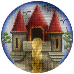 Rapunzel Round Canvas-Needlepoint Canvas-Rebecca Wood Designs-KC Needlepoint