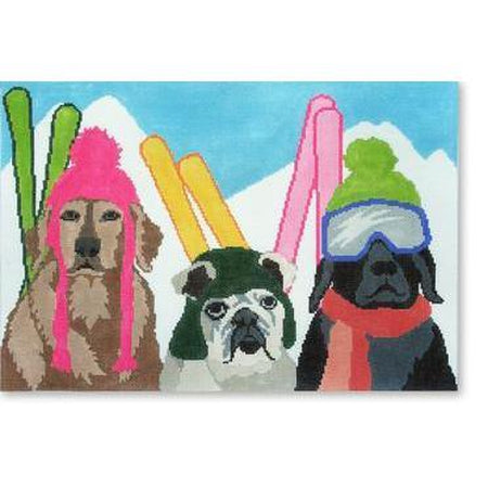 Ski Patrol Canvas - needlepoint