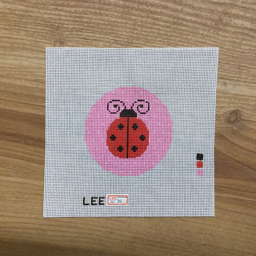 "Ladybug 3"" Round Canvas-Needlepoint Canvas-KC Needlepoint"