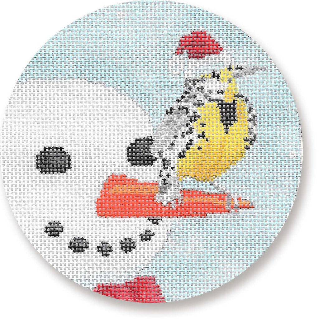 Snowman with Bird Canvas-Needlepoint Canvas-CBK Needlepoint-KC Needlepoint