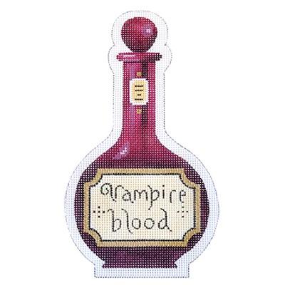 Vampire Blood Halloween Bottle Canvas