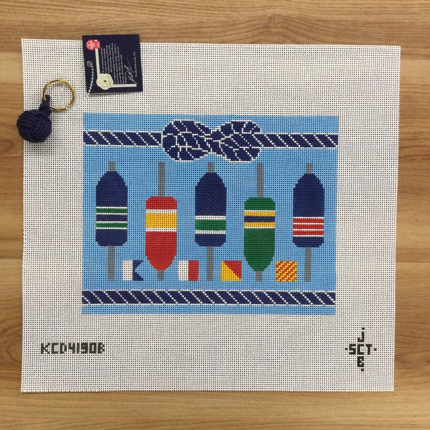 Ahoy Clutch Canvas - KC Needlepoint