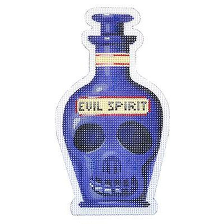 Evil Spirit Halloween Bottle Canvas